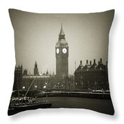 Big Ben On A Wintery Day Throw Pillow