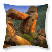 Big Bend Window Rock Throw Pillow