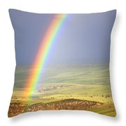 Big Horn Rainbow Throw Pillow