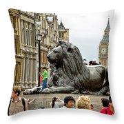 Big Lion Little Ben Throw Pillow