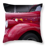 Big Red Two Throw Pillow