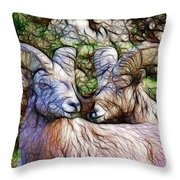 Bighorns Throw Pillow