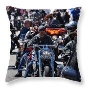 Bike Week Throw Pillow