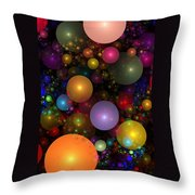 Billions Of Bubbles Throw Pillow by Peggi Wolfe