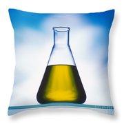Biodiesel In Erlenmeyer Flask  Throw Pillow