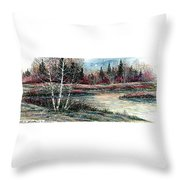 Birch Lake Throw Pillow
