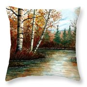 Birch Pond Throw Pillow