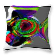 Bird Fish Throw Pillow