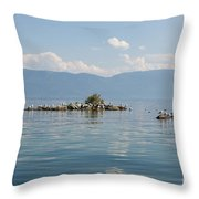 Bird Island Throw Pillow