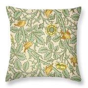 Bird Wallpaper Design Throw Pillow