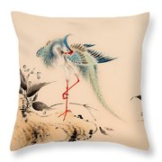 Birds And Flowers Throw Pillow