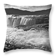 Black And White Waterfall Throw Pillow