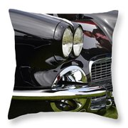 Black Corvette Throw Pillow