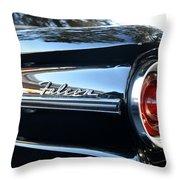 Black Falcon Throw Pillow