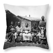 Black Homesteaders Throw Pillow