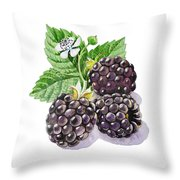 Artz Vitamins Series The Blackberries Throw Pillow