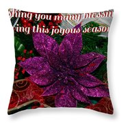 Blessings Christmas Card Throw Pillow