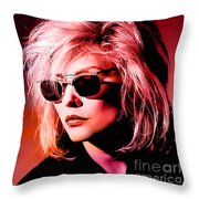 Blondie Debbie Harry Throw Pillow