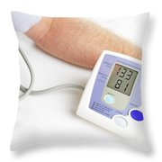 Blood Pressure Monitoring Throw Pillow