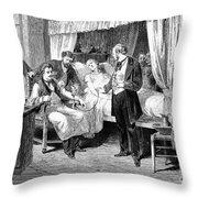 Blood Transfusion, 1874 Throw Pillow