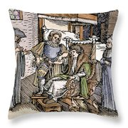Bloodletting, 1540 Throw Pillow