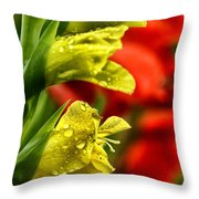 Blossom With Raindrops Throw Pillow