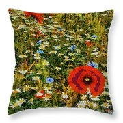 Blossoming Meadow Throw Pillow