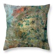 Blue Bamboo Throw Pillow