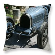 Blue Bugatti Oldtimer Throw Pillow