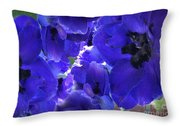 Blue Dream Floral Throw Pillow