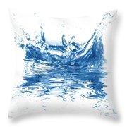 Blue Fresh Water  Throw Pillow