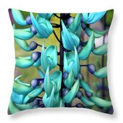 Blue Jade Plant  Hawaii, United States Throw Pillow