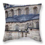 Blue Mosque 01 Throw Pillow