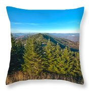 Blue Ridge Mountains North Carolina Throw Pillow
