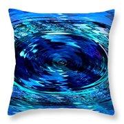 Blue Saffire Brooch Swirl Throw Pillow