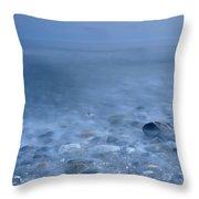 Blue Sea At Sunset Throw Pillow