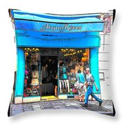 Got The Blues In Paris Throw Pillow