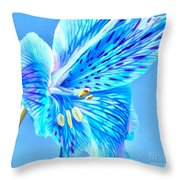 Blue Summer Throw Pillow