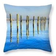 Blue Tide Throw Pillow