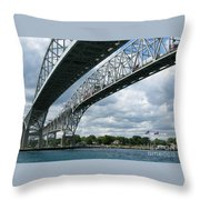 Blue Water Crossing Throw Pillow