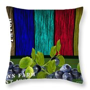 Blueberry Patch Throw Pillow