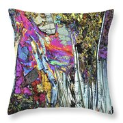 Blueschist Throw Pillow