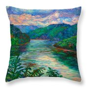 Bluestone Lake Throw Pillow