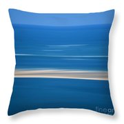Blurred Sea Throw Pillow