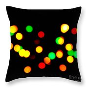 Blurry Colored Lights Throw Pillow