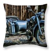 Bmw 500 Sidecar Throw Pillow