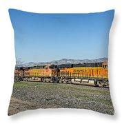 Bnsf 7199 Consist Throw Pillow