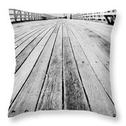 Boardwalk Of Distance Throw Pillow
