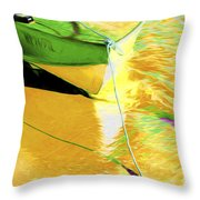 Boat Abstract Throw Pillow