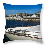 Boats In Port Throw Pillow